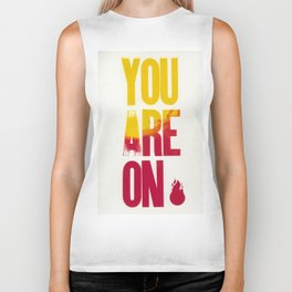 You are on Fire Biker Tank