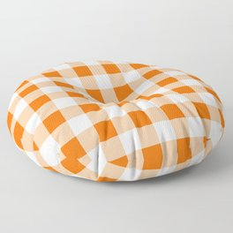 Orange Check Floor Pillow