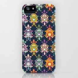 Colorful Cuckoo Clocks iPhone Case