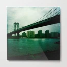 Manhattan Bridge Metal Print