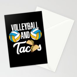 Volleyball And Tacos Fast Food Sports Gift Stationery Cards