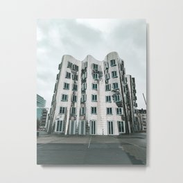 futuristic architecture in Düsseldorf, Germany Metal Print