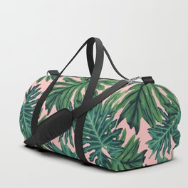 Philo Hope - Tropical Jungle Leaves Pattern #2 #tropical #decor #art #society6 Duffle Bag