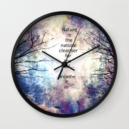 Natural Cleanser Wall Clock