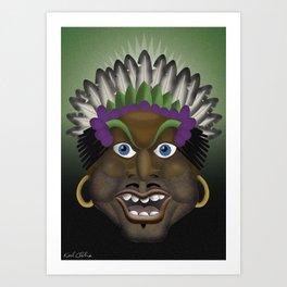Pacific Islander 'Munday Goode' Art Print