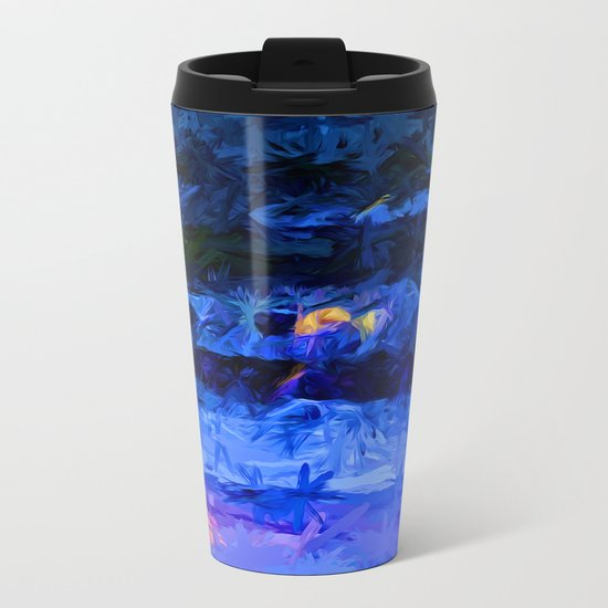 Wild Blue Sea under the Lavender Sky Metal Travel Mug