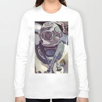 diver Long Sleeve T-shirts featuring Diver by Five Ate Five Studios
