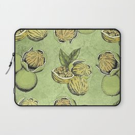Walnuts Faded Lime Color Laptop Sleeve