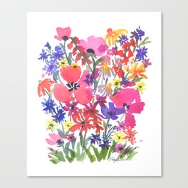 Little Pink Poppies Canvas Print
