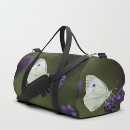Cabbage butterfly feeding on lavender Duffle Bag