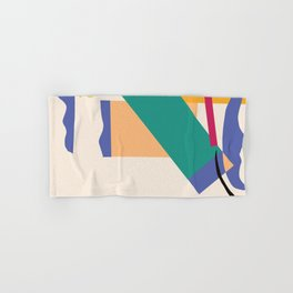 Matisse Inspired Colorful Collage Hand & Bath Towel