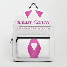 Breast cancer awareness pink ribbon- graphic to support women suffering from breast cancer Backpack