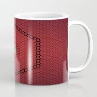 hexagon Mugs featuring Hexagon by BoxEstudio