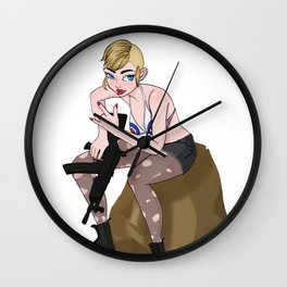Tank Girl Wall Clock