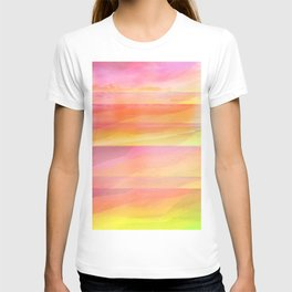 Seascape in Shades of Yellow and Peach T-shirt