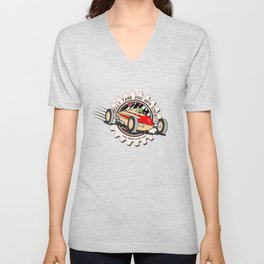 salt flats tank car Unisex V-Neck