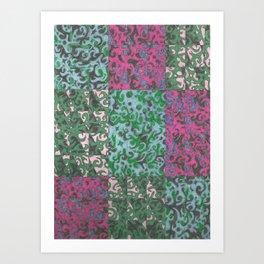 Rectangles and Swirls Art Print