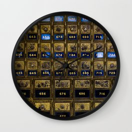 Post Office Boxes Wall Clock