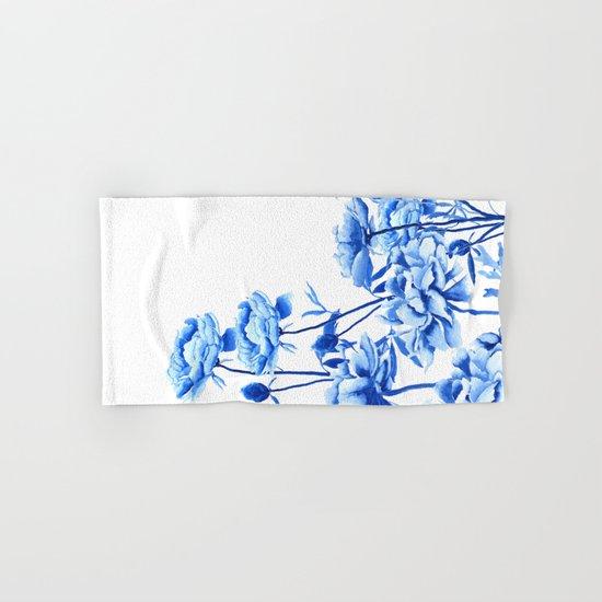 blue peonies Hand & Bath Towel