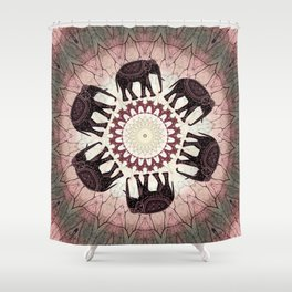 Boho Elephants Shower Curtain