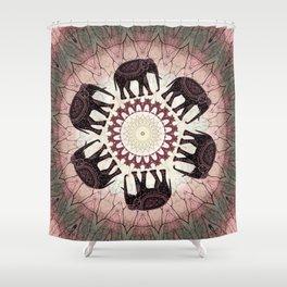 Boho Elephants Shower Curtain