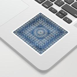 Old Bookshop Magic Mandala in Blue Sticker