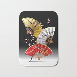 Japanese Cherry Fans Bath Mat