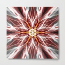 Burning hot electric flower Metal Print