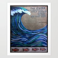 the cure Art Prints featuring The Cure by Jeanne Hollington