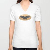 da vinci V-neck T-shirts featuring Leonardo da Vinci by Eva Nev