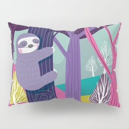 Sloth in the woods Pillow Sham