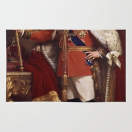 King Edward VII in coronation robes Rug