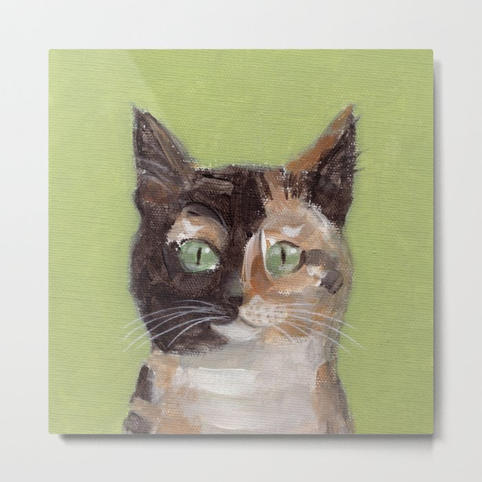 Tortie Cat Metal Print