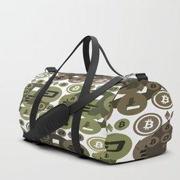 Ethereum, Bitcoin, Dash, Ripple, Litcoin Duffle Bag