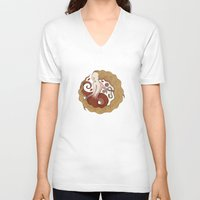 copper V-neck T-shirts featuring Copper Naga by Zsofia Dome