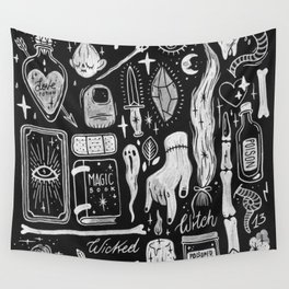 BLACK MAGIC Wall Tapestry