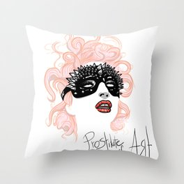 Prostitute of Art Throw Pillow
