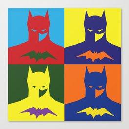 BAT MAN popart bright silhouette Canvas Print