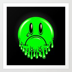 Slimey - neon green Art Print