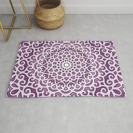 16 Fold Mandala in Purple Rug