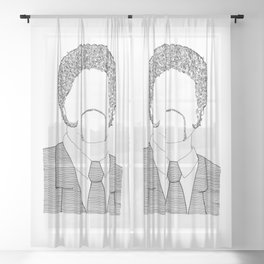 Winston Wolf - Pulp Fiction Sheer Curtain