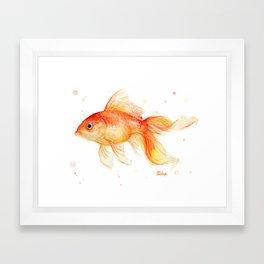 Goldfish Watercolor Fish Framed Art Print