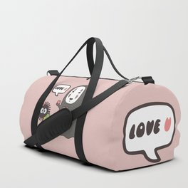 Studio Ghibli No-Face in Love of SootBall Duffle Bag