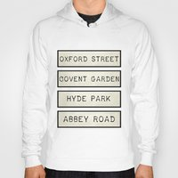 calendars Hoodies featuring London by Shabby Studios Design & Illustrations ..