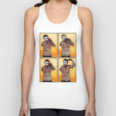 The Zombie Mime! Unisex Tank Top