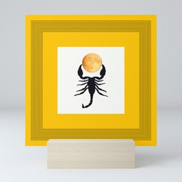 A Scorpion With The Moon In The Frame #decor #homedecor #buyart #pivivikstrm Mini Art Print