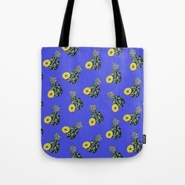 Electric Blue Pineapples Tote Bag