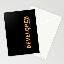 Developer Eat Sleep Code Stationery Cards