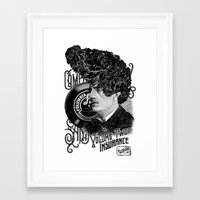 rockabilly Framed Art Prints featuring Rockabilly by DIVIDUS