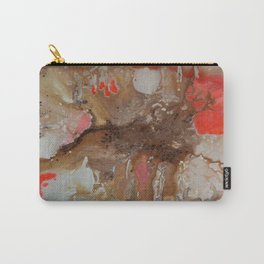 Brown Orange And White Abstract Art By Saribelle Carry-All Pouch